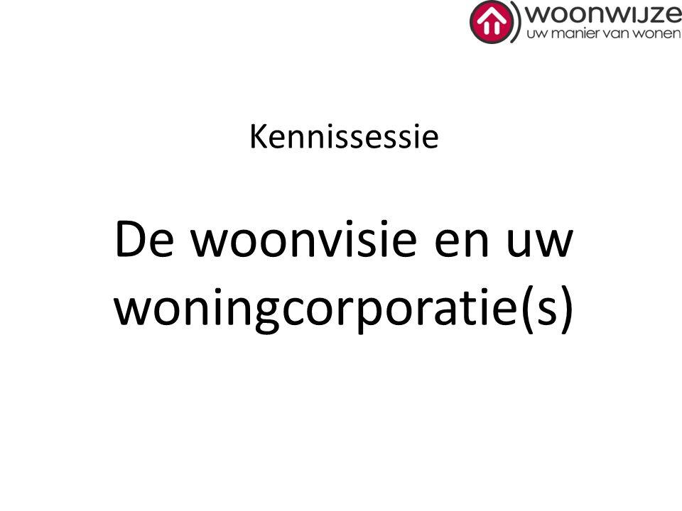 Kennissessie De woonvisie en uw woningcorporatie(s)