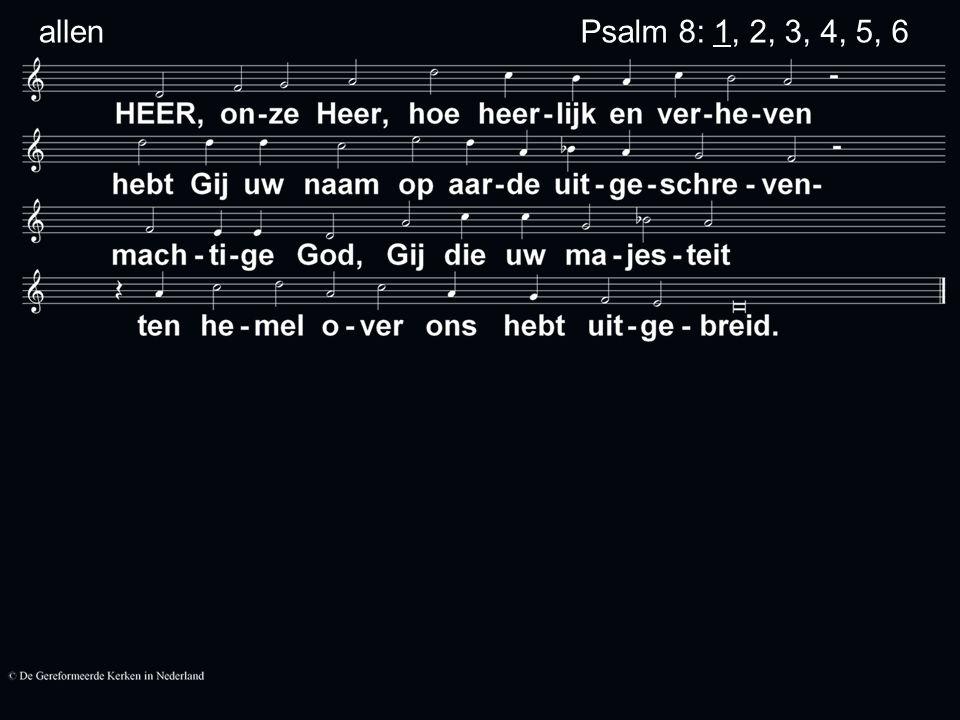 Psalm 8: 1, 2, 3, 4, 5, 6 allen