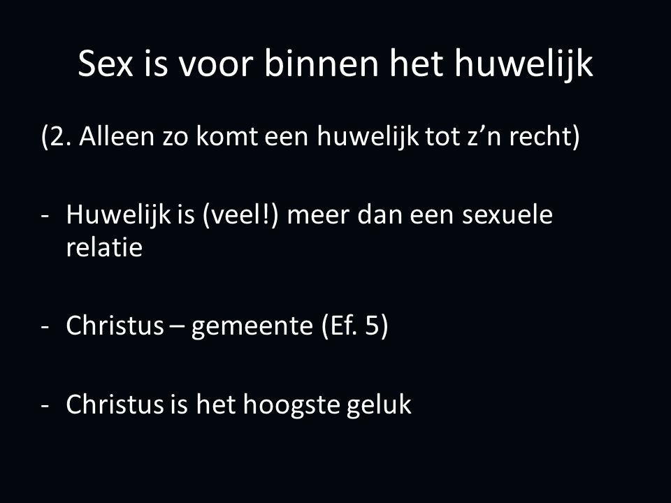 Sex is voor binnen het huwelijk (2.