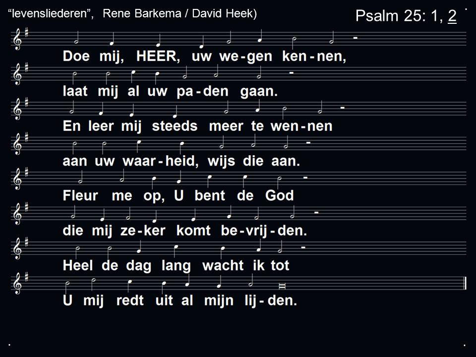 ... Psalm 25: 1, 2 levensliederen , Rene Barkema / David Heek)