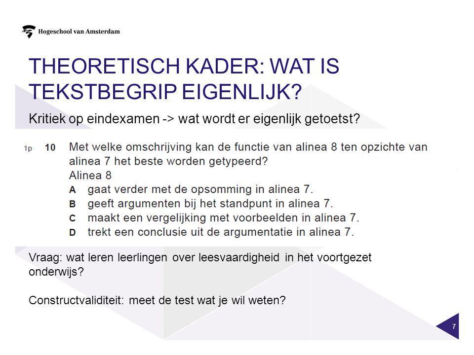 TEKSTBEGRIP WORDT BEÏNVLOED DOOR… 8 Voorkennis Lees- strategieën Woordenschat Verbanden kunnen leggen Technisch lezen Tekstbegrip