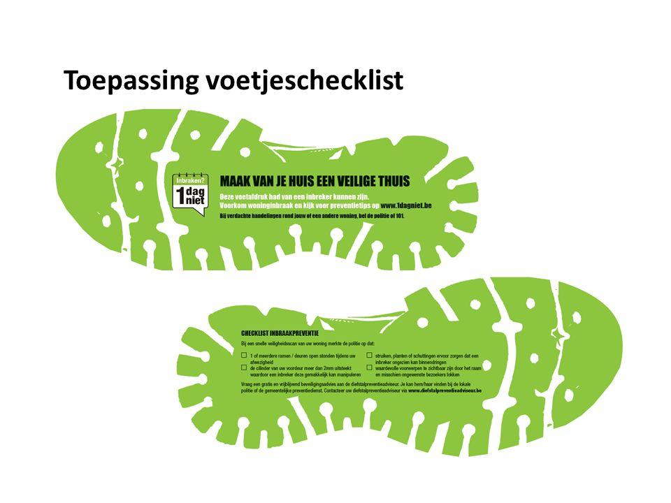 Toepassing voetjeschecklist