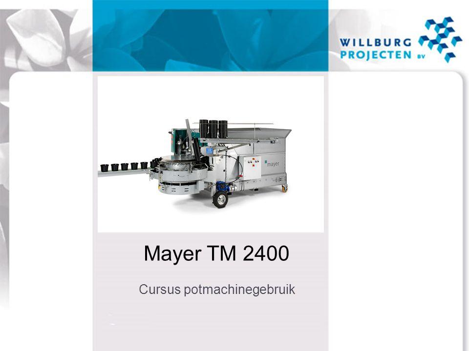 Mayer TM 2400 Cursus potmachinegebruik