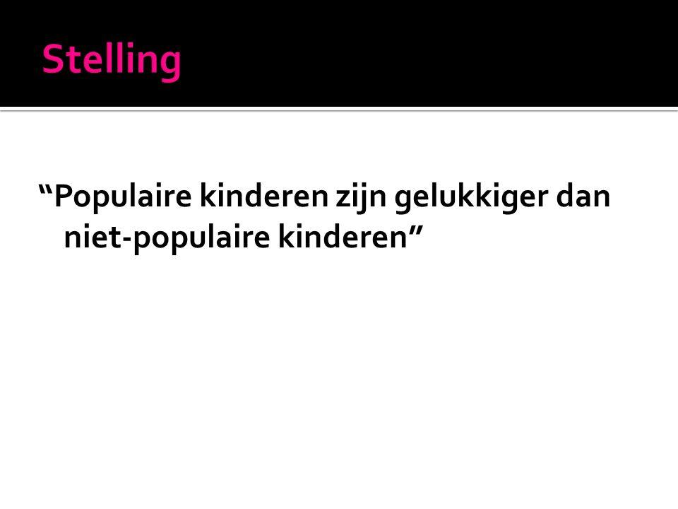 Populaire kinderen zijn gelukkiger dan niet-populaire kinderen