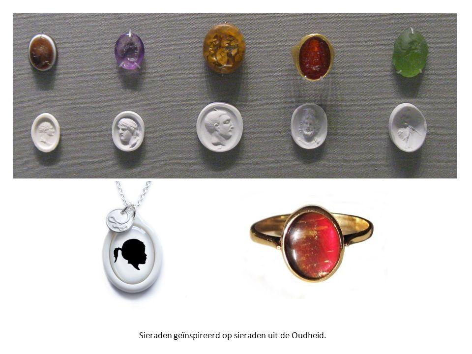 Sieraden geïnspireerd op sieraden uit de Oudheid.