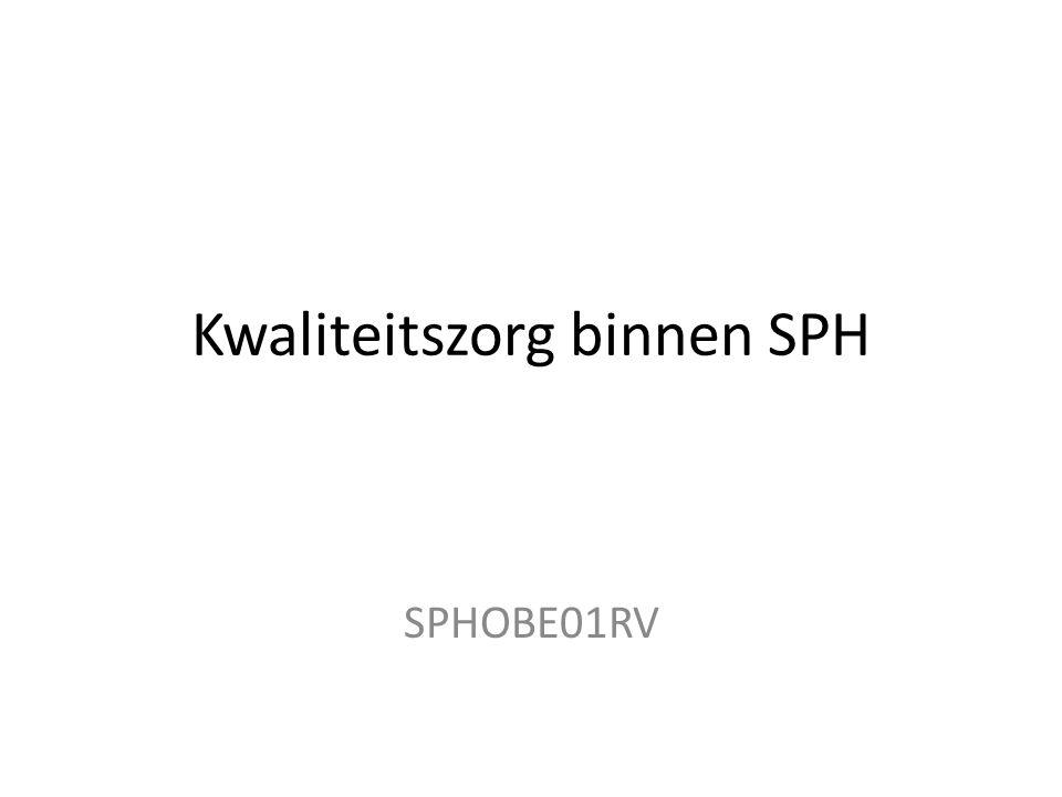 Kwaliteitszorg binnen SPH SPHOBE01RV