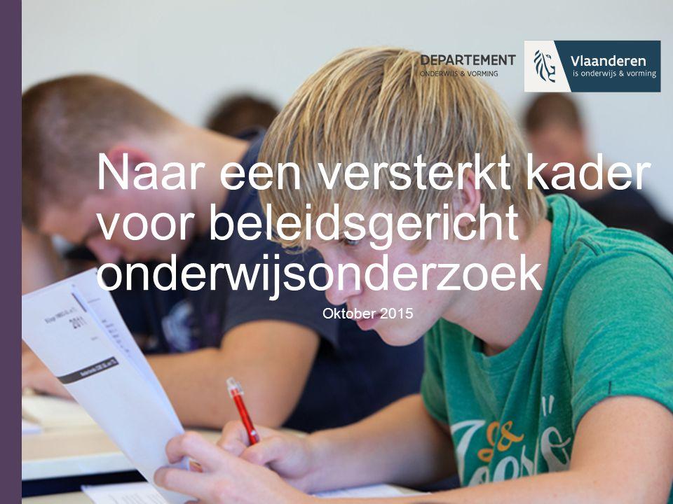 Situering Jarenlange traditie in financiering en opvolging van onderzoek en ontwikkeling i.f.v.