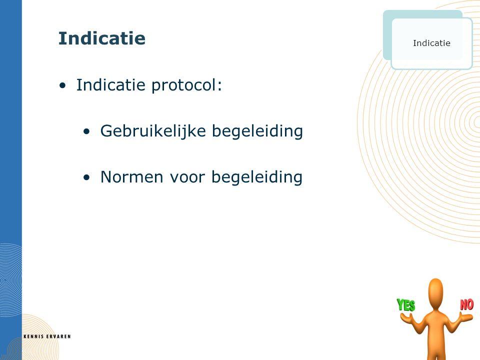 Indicatie Indicatie protocol: Gebruikelijke begeleiding Normen voor begeleiding