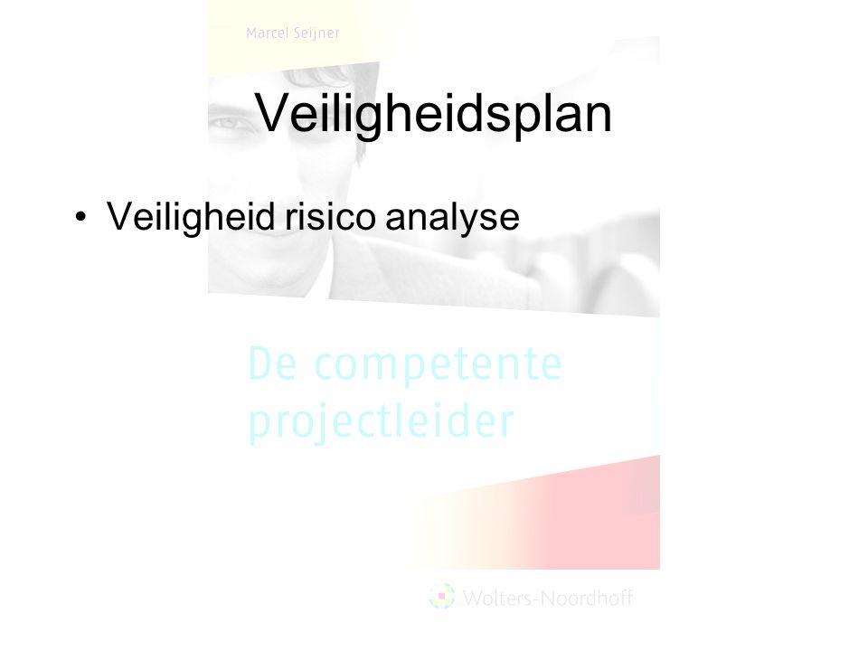 Veiligheidsplan Veiligheid risico analyse