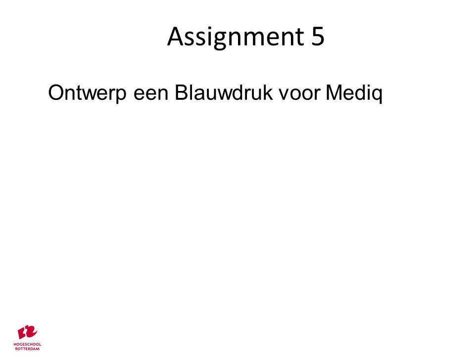 Assignment 5 Ontwerp een Blauwdruk voor Mediq