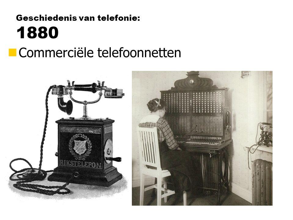 Geschiedenis van telefonie: 1880 nCommerciële telefoonnetten
