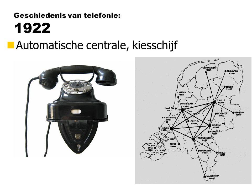 Geschiedenis van telefonie: 1922 nAutomatische centrale, kiesschijf
