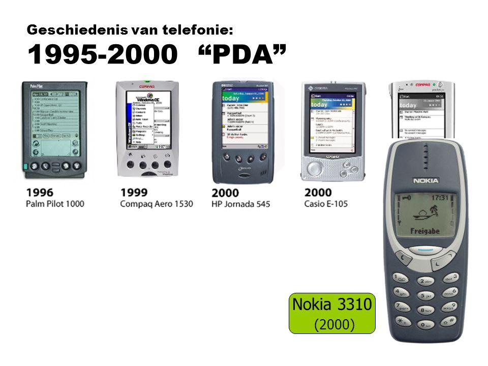 """Geschiedenis van telefonie: 1995-2000 """"PDA"""" Nokia 3310 (2000)"""