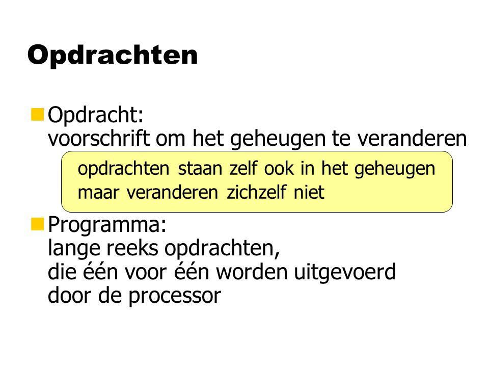 Programmeertalen nProgrammeertaal: notatie voor programma's nsinds 1945: 4000 verschillende talen gepubliceerd