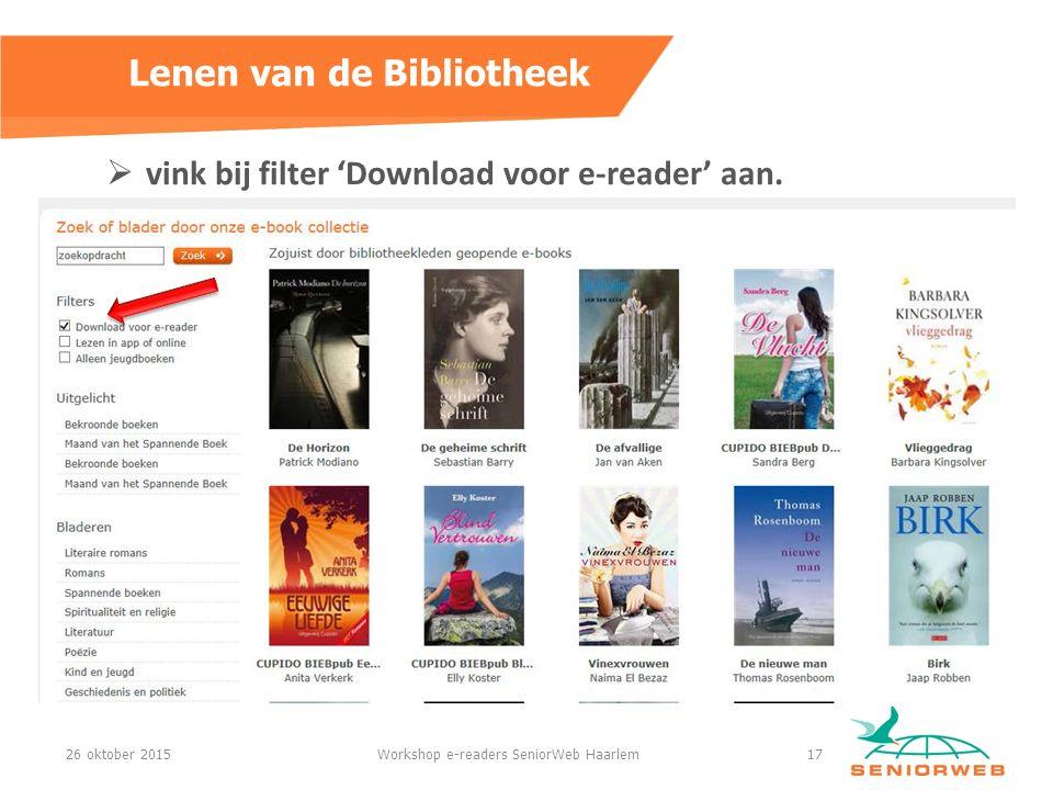  vink bij filter 'Download voor e-reader' aan.