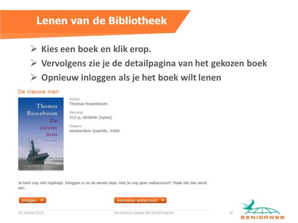  Kies een boek en klik erop.
