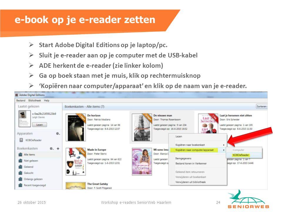  Start Adobe Digital Editions op je laptop/pc.