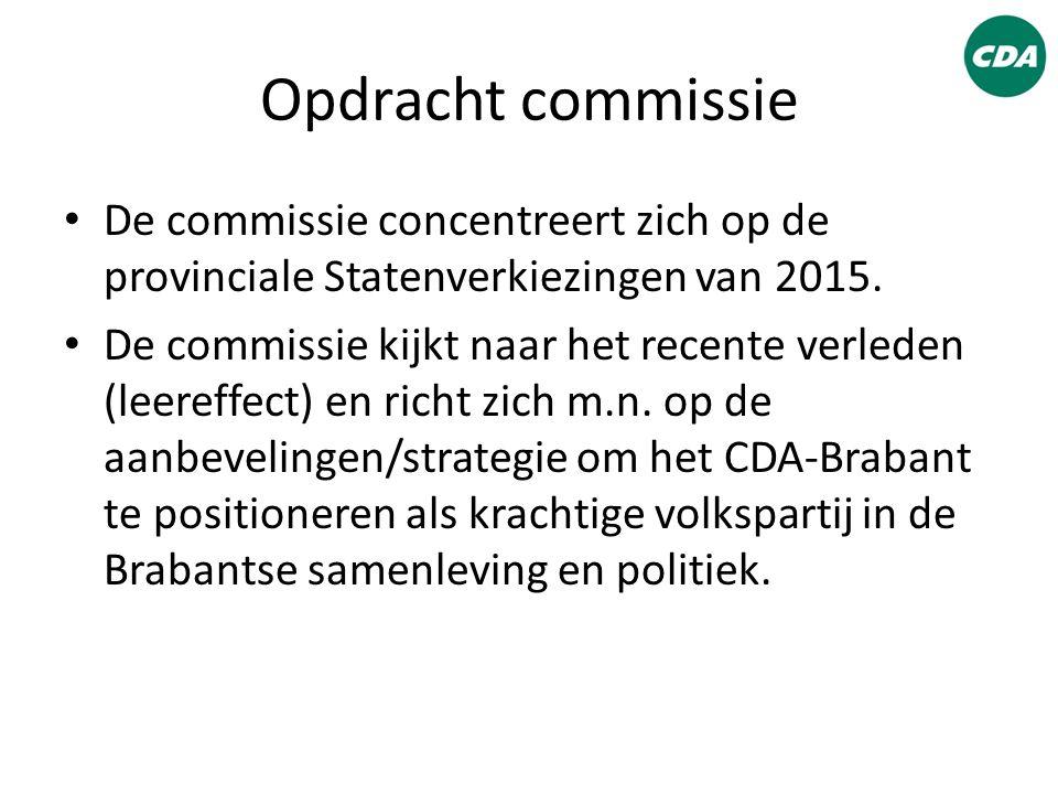 Opdracht commissie De commissie concentreert zich op de provinciale Statenverkiezingen van 2015. De commissie kijkt naar het recente verleden (leereff