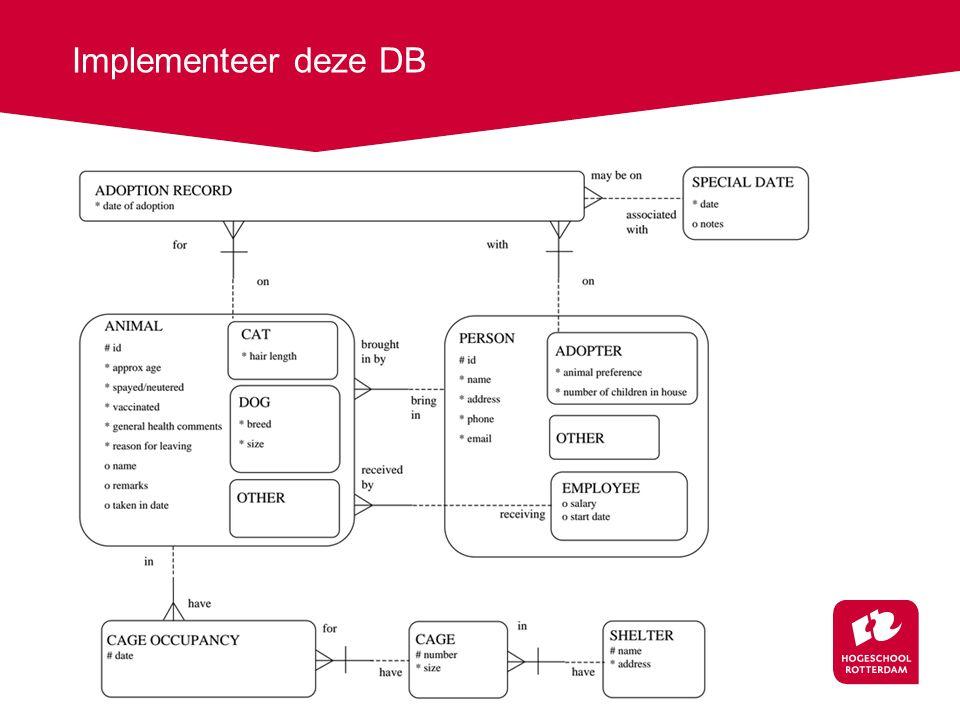 Implementeer deze DB