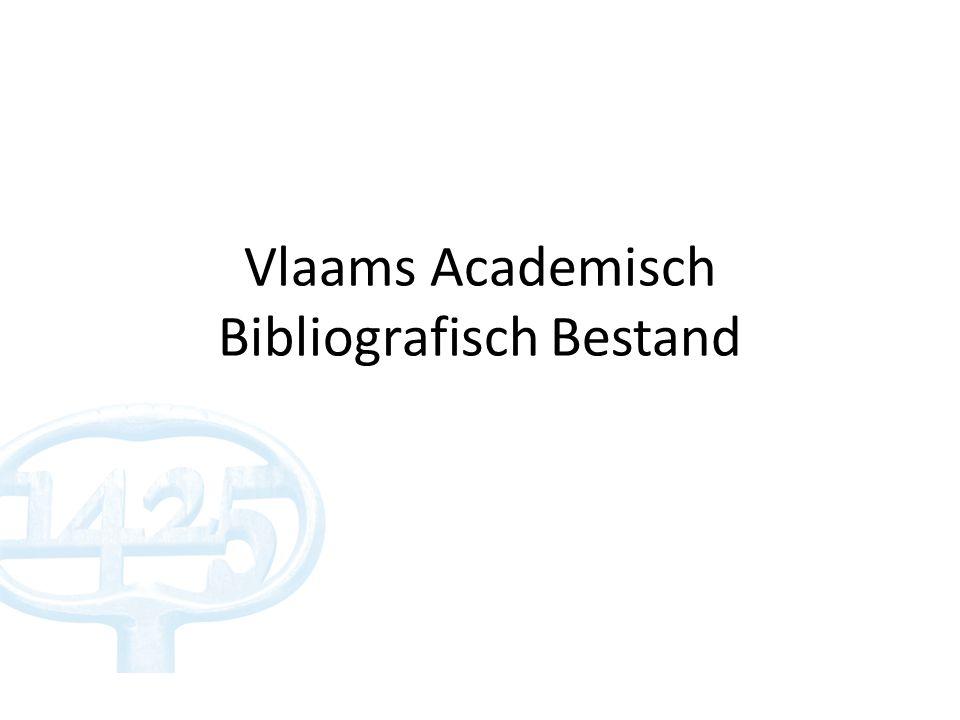 Vlaams Academisch Bibliografisch Bestand