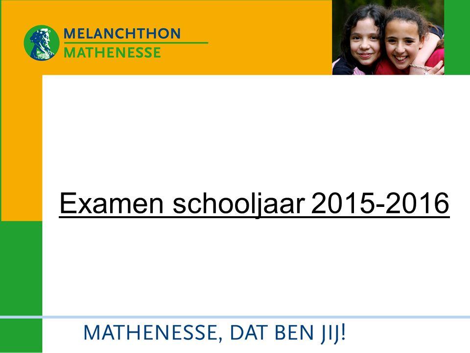 Examen schooljaar 2015-2016