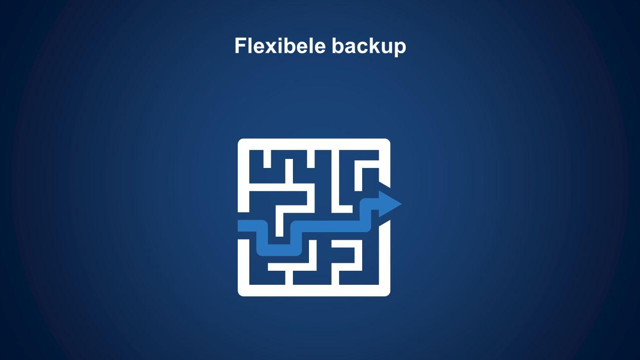 Flexibele backup