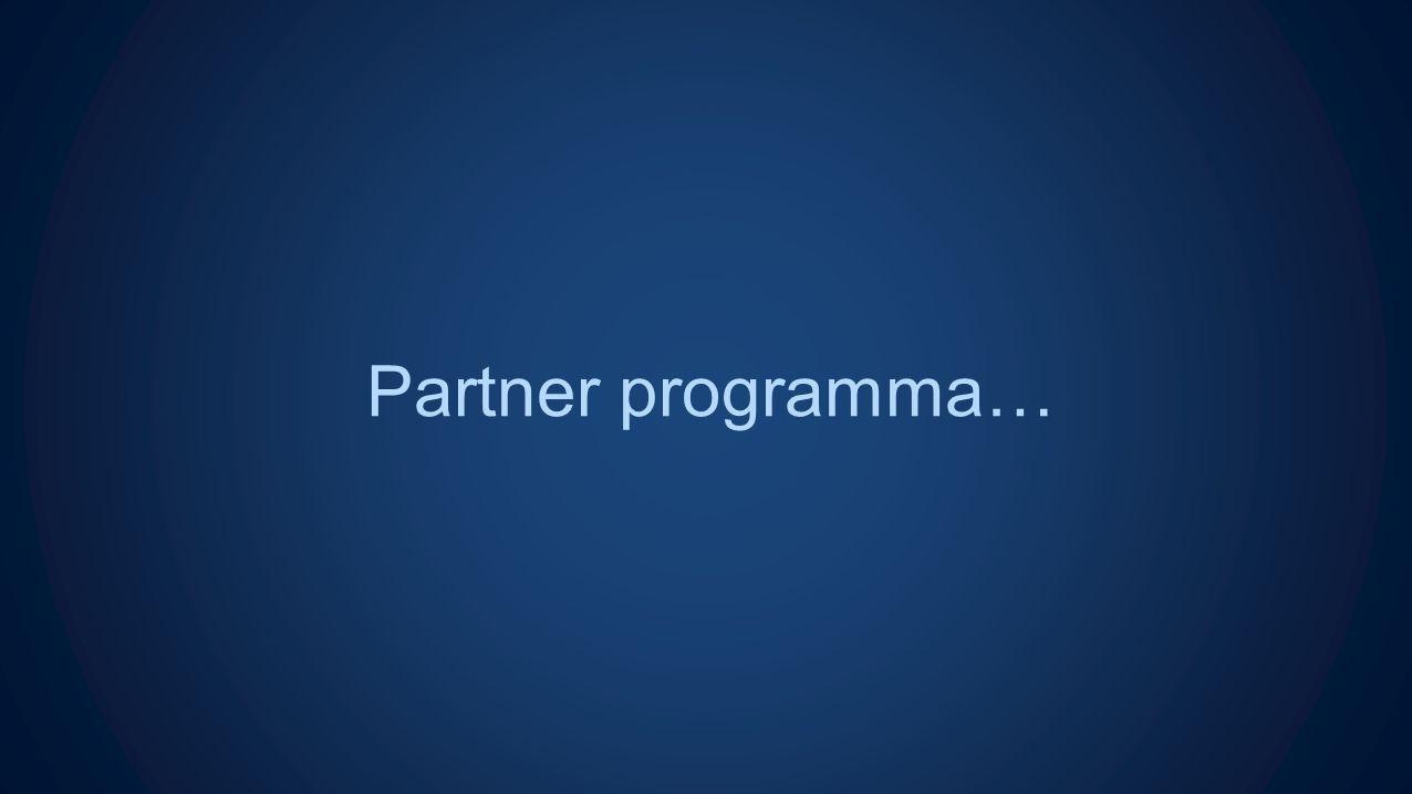 Partner programma…