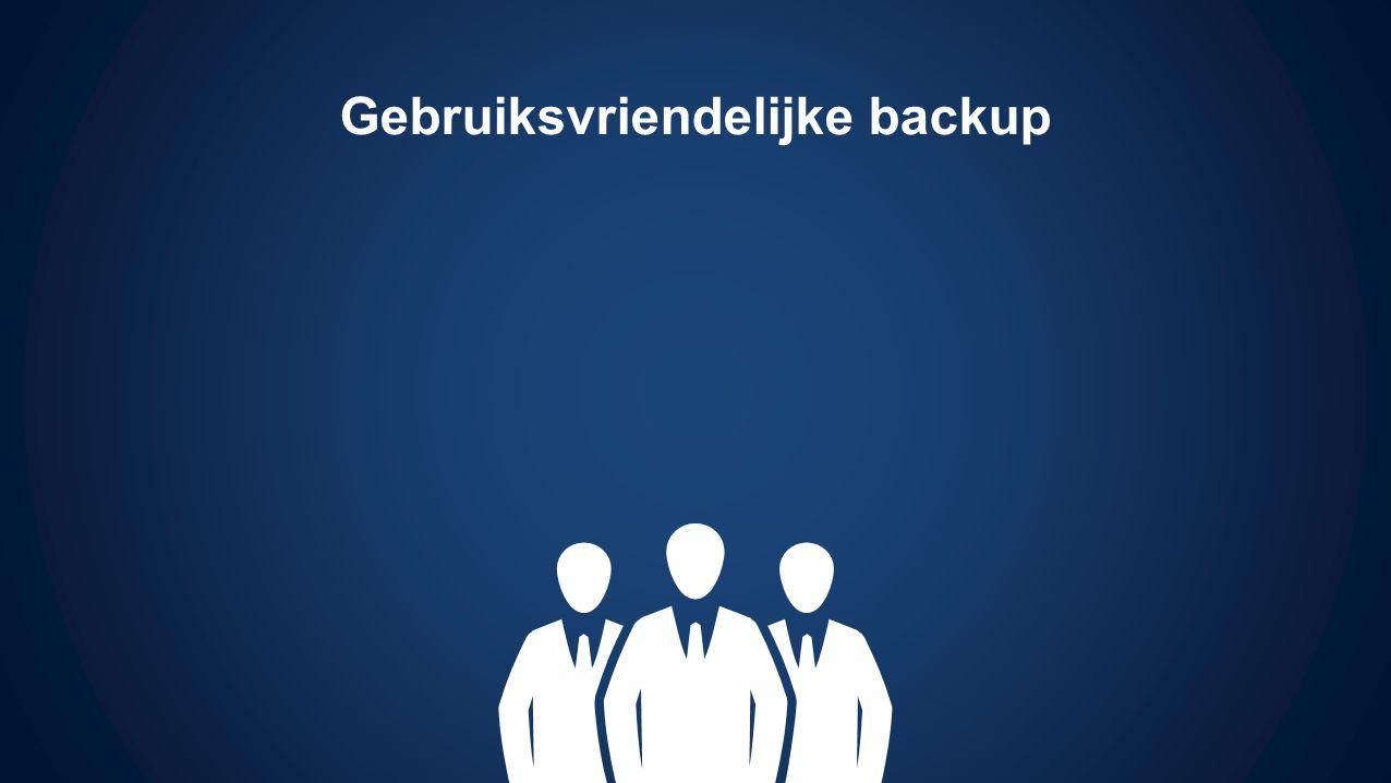 Gebruiksvriendelijke backup