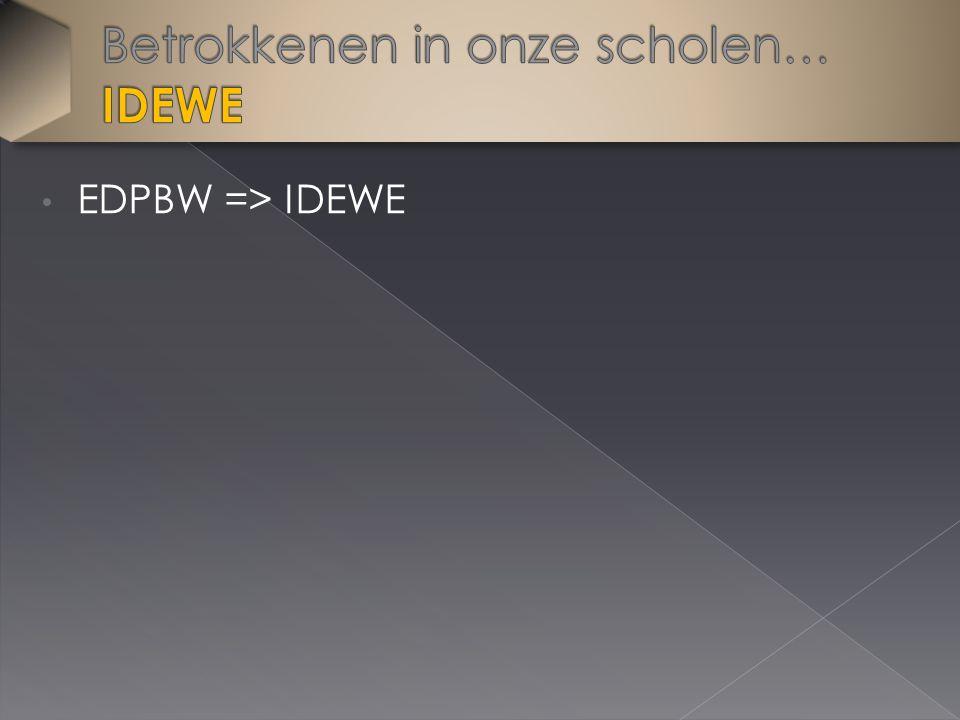 EDPBW => IDEWE