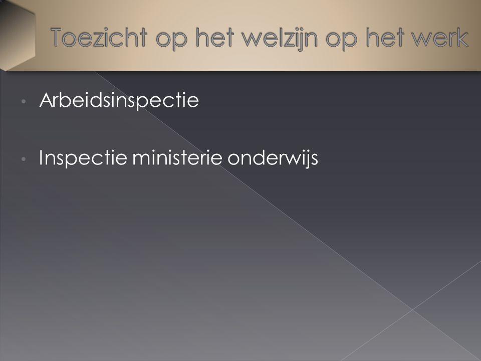 Arbeidsinspectie Inspectie ministerie onderwijs