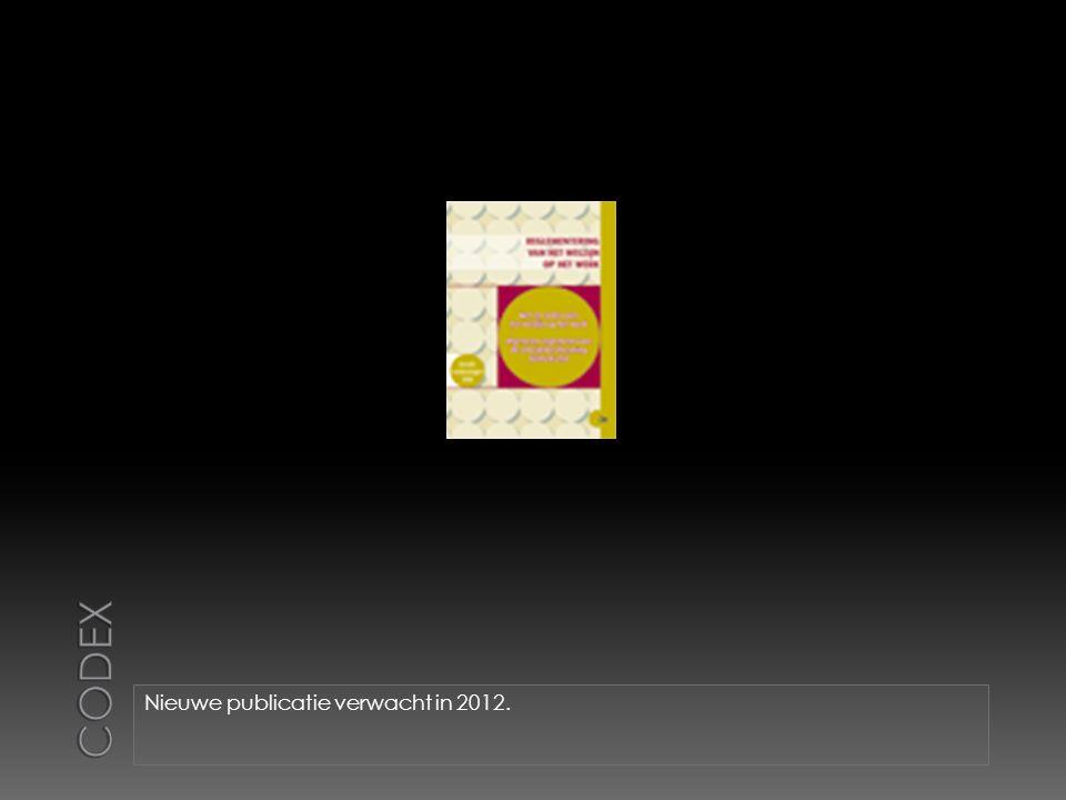 Nieuwe publicatie verwacht in 2012.