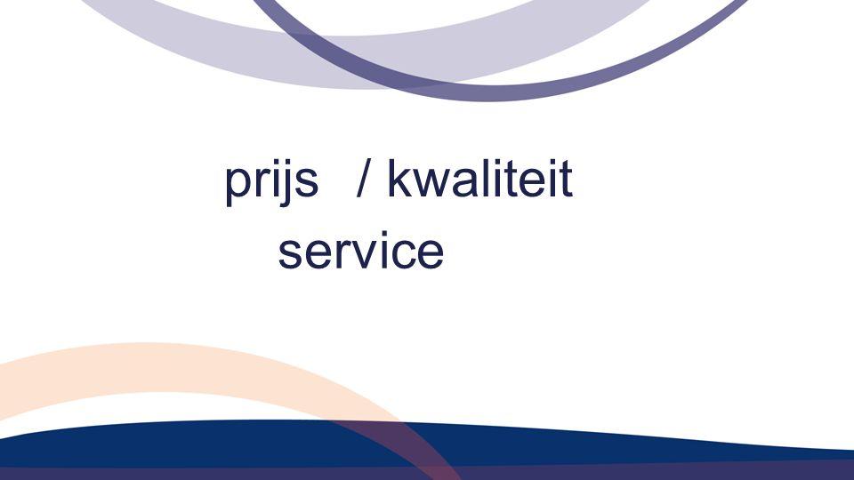 prijs/ kwaliteit service