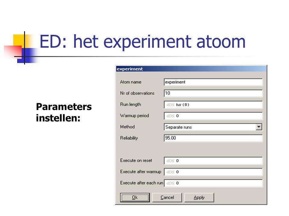 Parameters instellen: