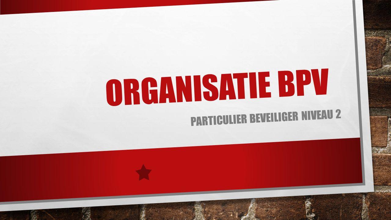 ORGANISATIE BPV PARTICULIER BEVEILIGER NIVEAU 2