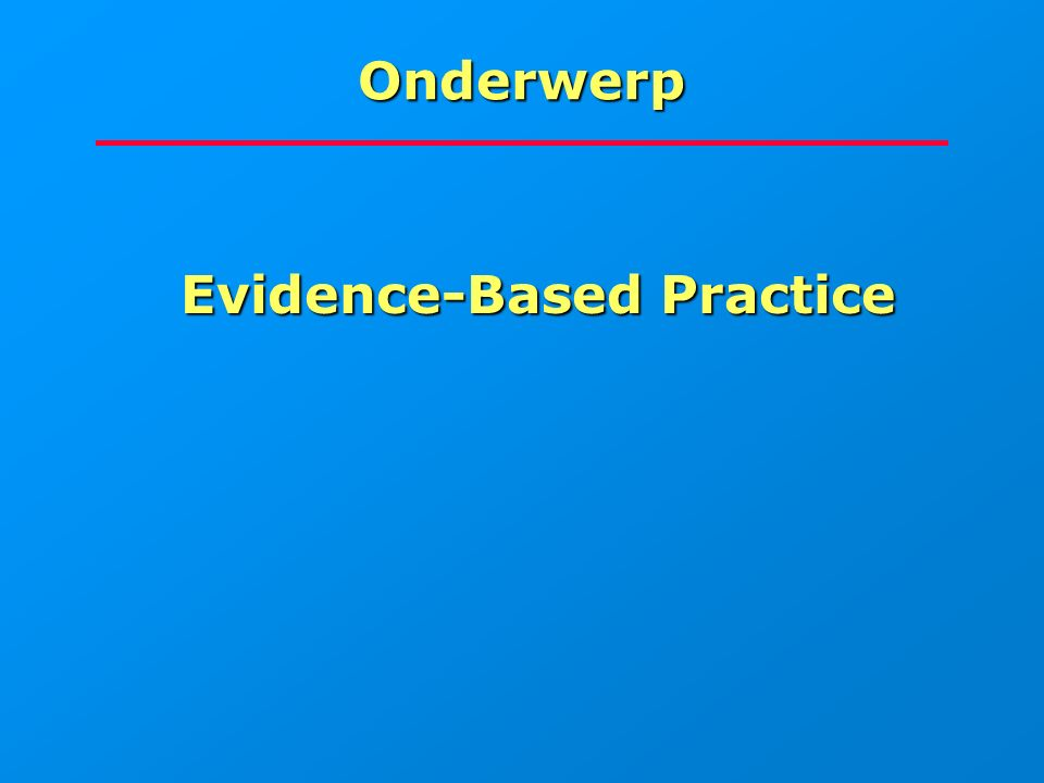 Vraag 3 Is evidence-based librarianship Is evidence-based librarianship mogelijk.