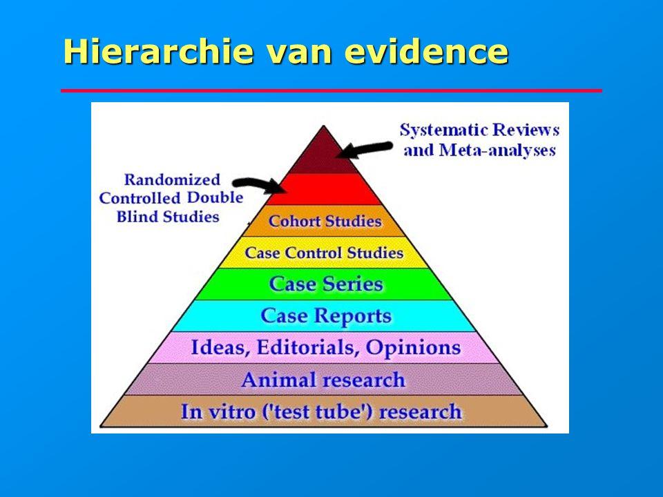 Hierarchie van evidence