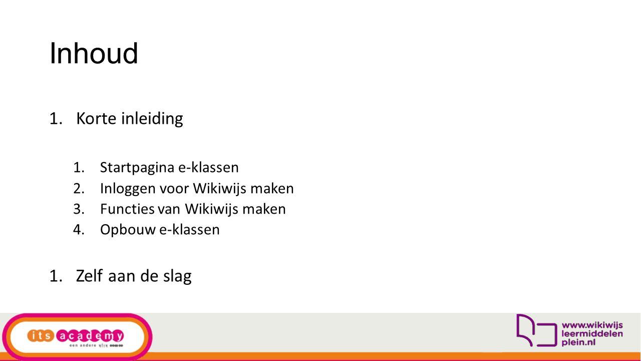 Startpagina voor materiaal e-klassen https://eklassen.wikiwijs.nl