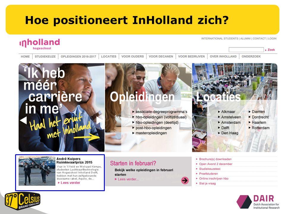 Hoe positioneert InHolland zich
