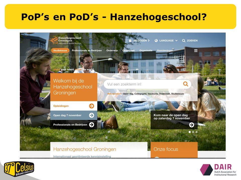 PoP's en PoD's - Hanzehogeschool?