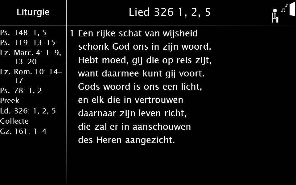 Ps.148: 1, 5 Ps.119: 13-15 Lz.Marc.4: 1-9, 13-20 Lz.Rom.