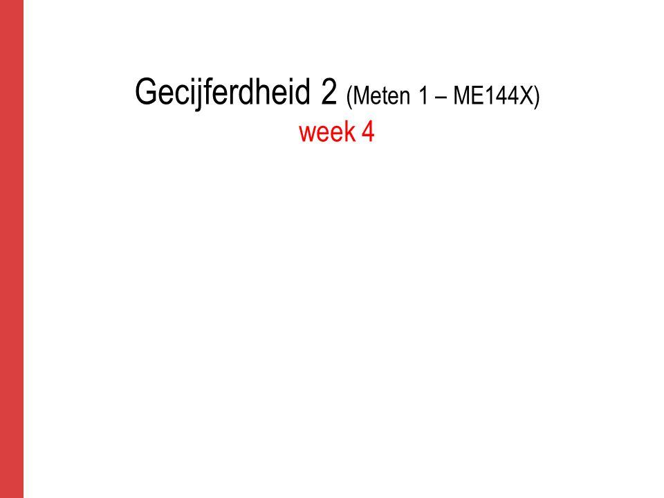 Gecijferdheid 2 (Meten 1 – ME144X) week 4