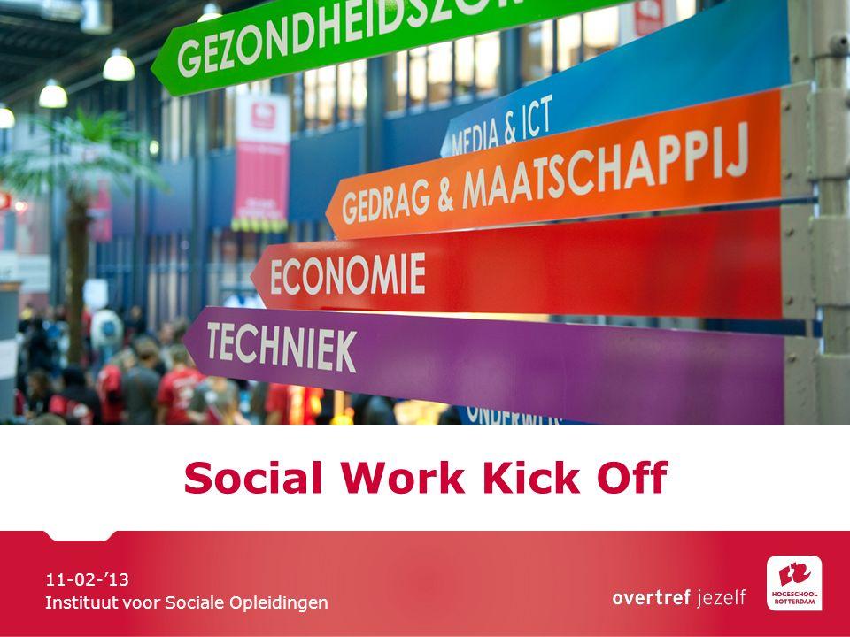 Social Work Kick Off 11-02-'13 Instituut voor Sociale Opleidingen