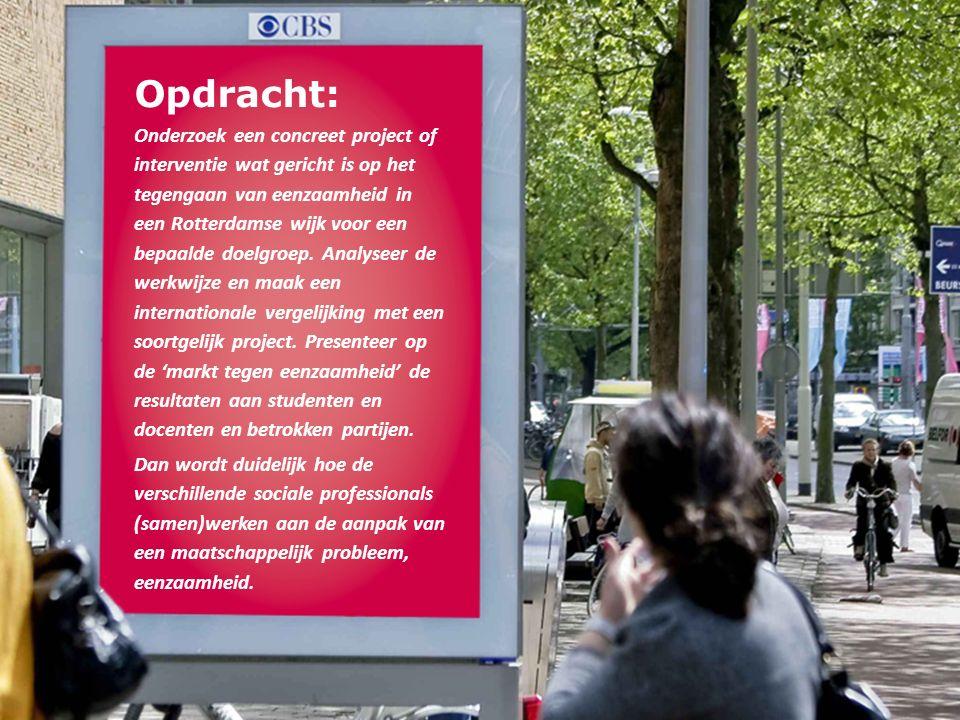 Opdracht: Onderzoek een concreet project of interventie wat gericht is op het tegengaan van eenzaamheid in een Rotterdamse wijk voor een bepaalde doelgroep.