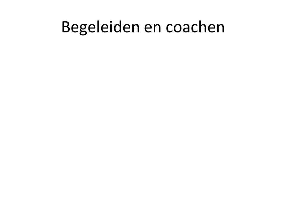 Begeleiden en coachen