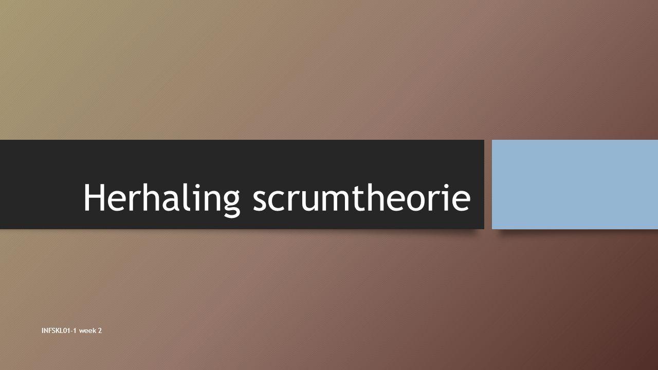 Herhaling scrumtheorie INFSKL01-1 week 2