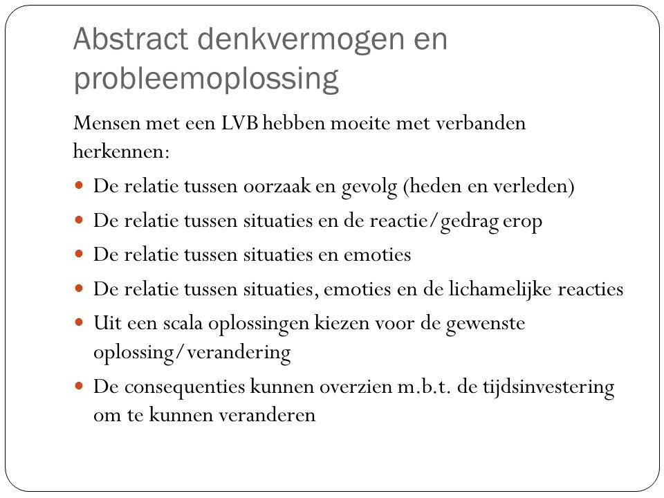 Typering van de lichte verstandelijke beperking De beperking wordt vaak pas laat ontdekt (kleuterleeftijd).