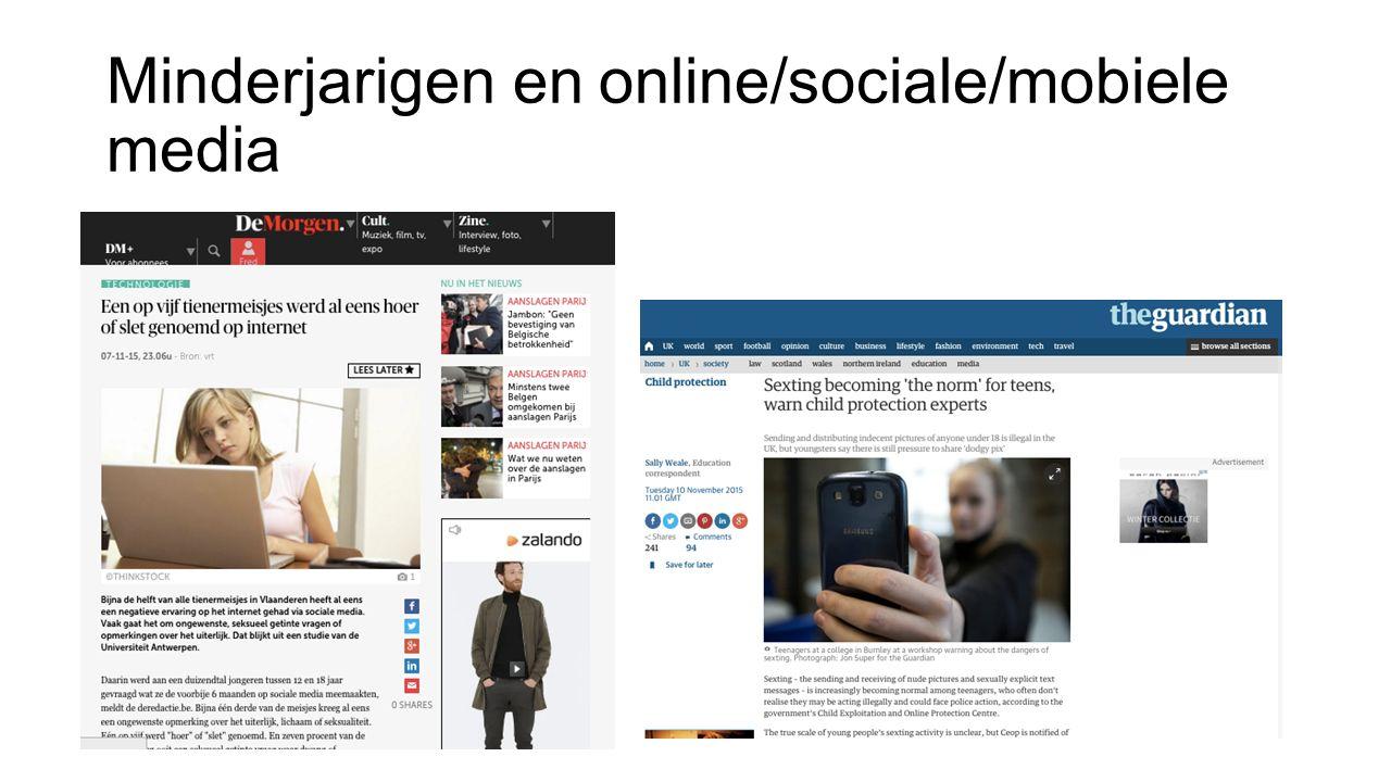 Minderjarigen en online/sociale/mobiele media