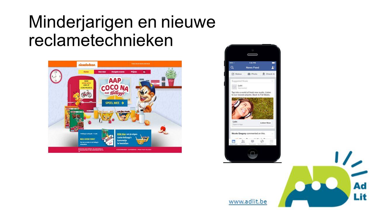 Minderjarigen en nieuwe reclametechnieken www.adlit.be