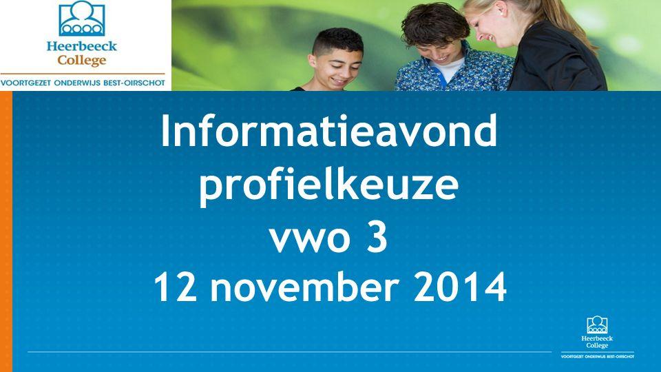 Informatieavond profielkeuze vwo 3 12 november 2014