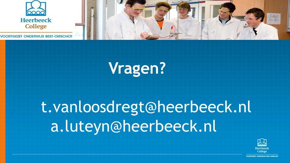 Vragen t.vanloosdregt@heerbeeck.nl a.luteyn@heerbeeck.nl